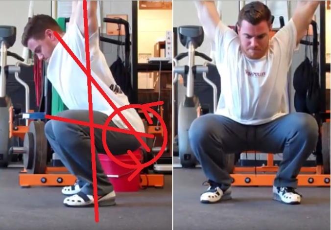 squat w shoulder flexion